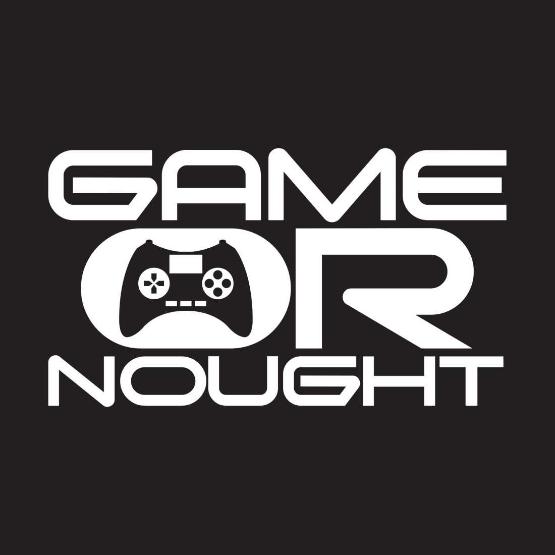 GameOrNought Black Logo