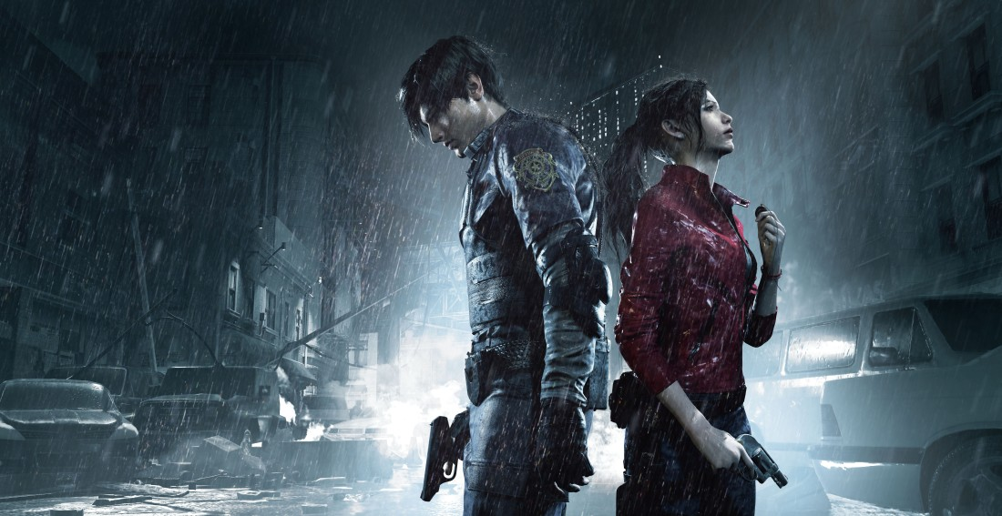Resident Evil 2 Leon and Claire Key Art